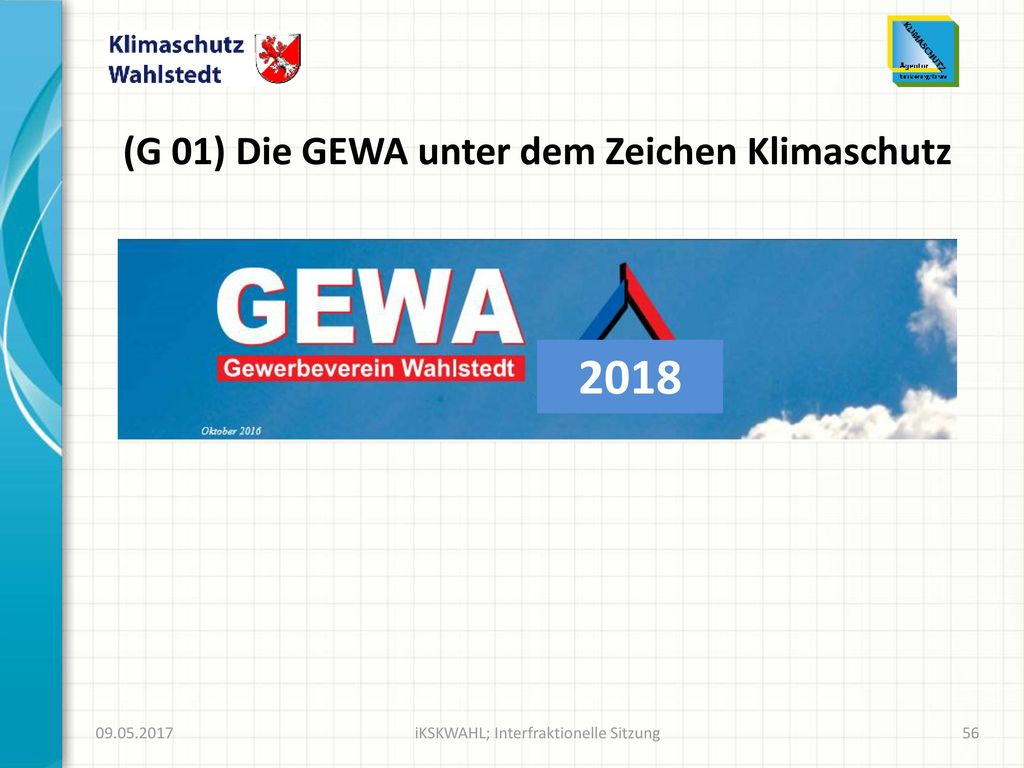 (G 01) Die GEWA unter dem Zeichen Klimaschutz