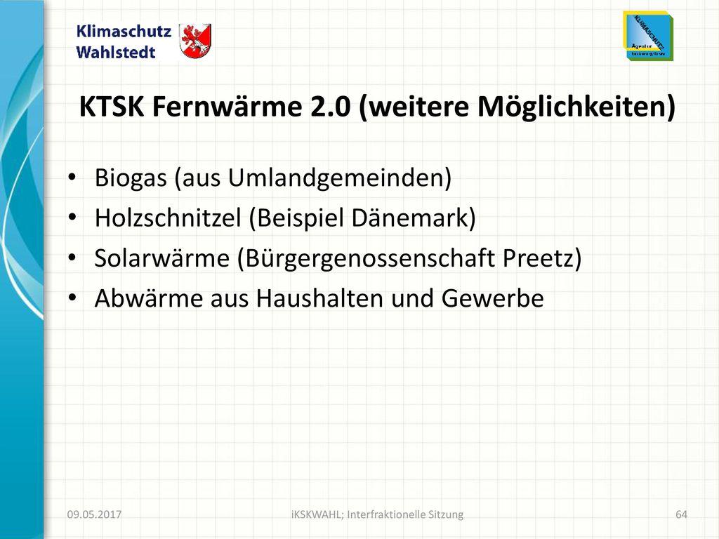 KTSK Fernwärme 2.0 (weitere Möglichkeiten)