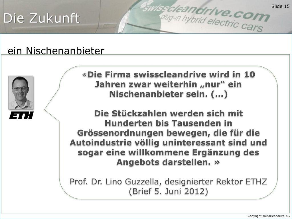 Prof. Dr. Lino Guzzella, designierter Rektor ETHZ (Brief 5. Juni 2012)