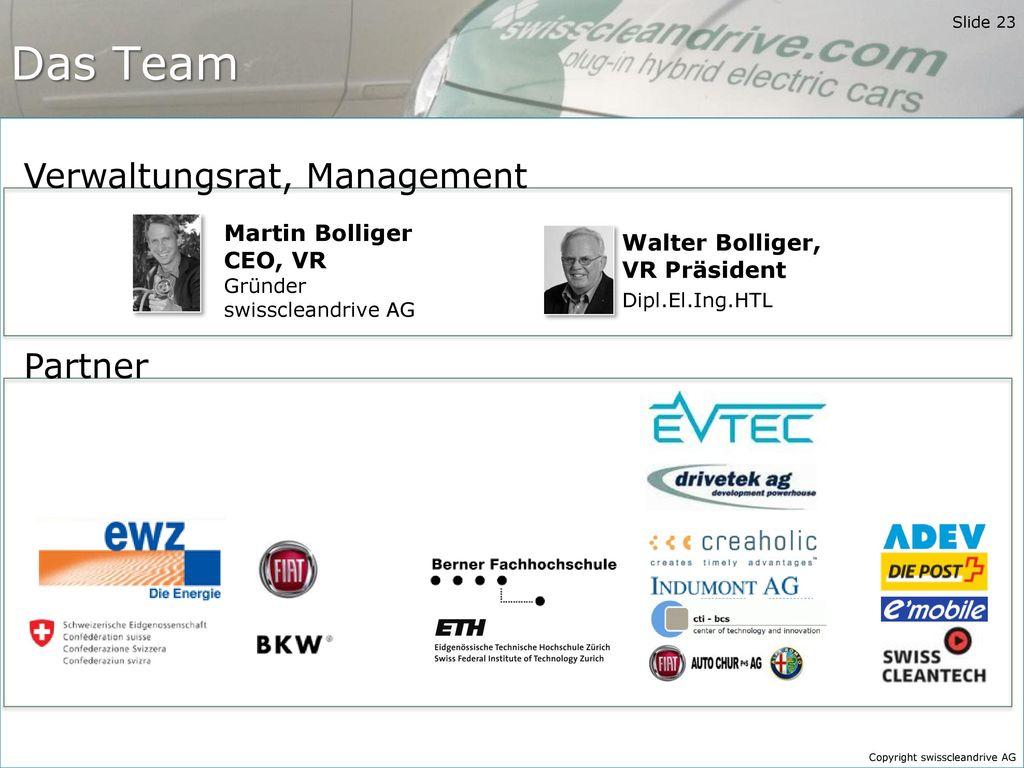 Das Team Verwaltungsrat, Management Partner