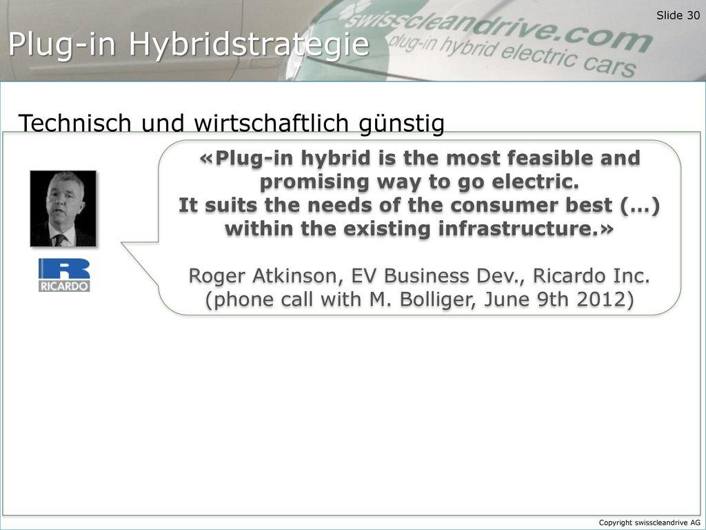 Plug-in Hybridstrategie