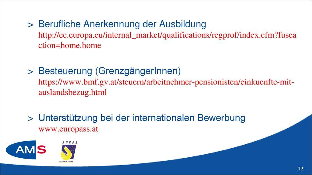 Weitere nützliche Infos auf: http://europa