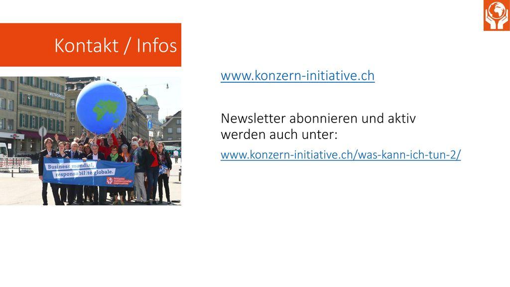 Kontakt / Infos www.konzern-initiative.ch