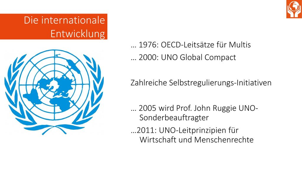 Die internationale Entwicklung