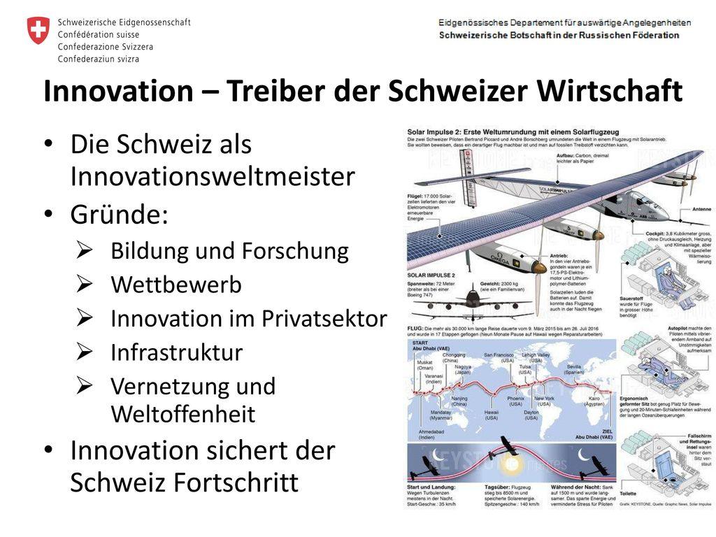 Innovation – Treiber der Schweizer Wirtschaft