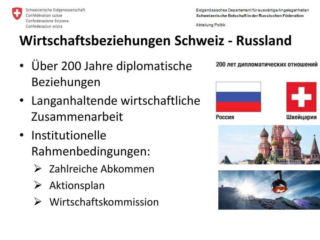 Wirtschaftsbeziehungen Schweiz - Russland