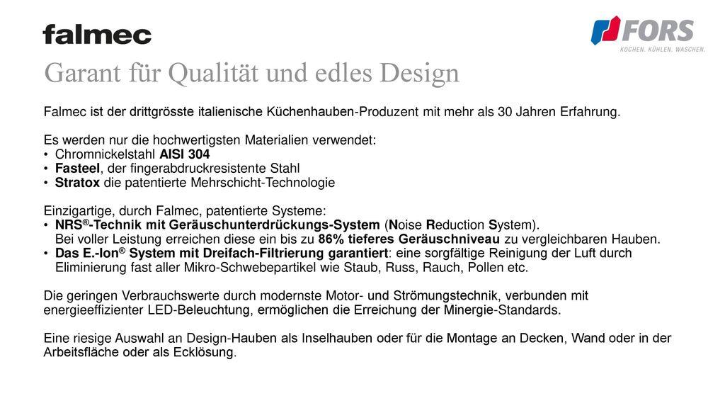 Garant für Qualität und edles Design