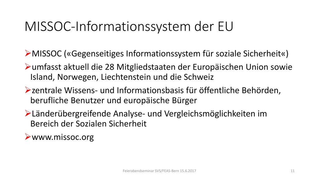 MISSOC-Informationssystem der EU