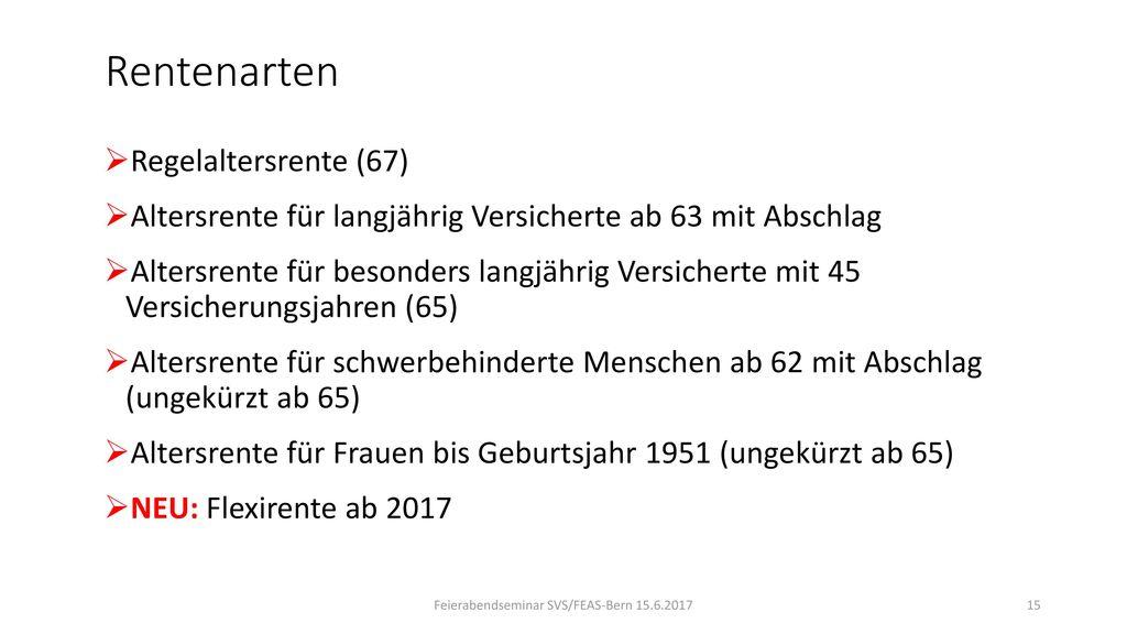 Feierabendseminar SVS/FEAS-Bern 15.6.2017