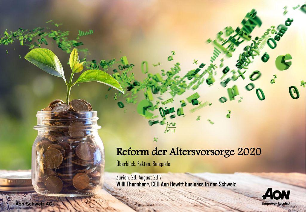 Reform der Altersvorsorge 2020