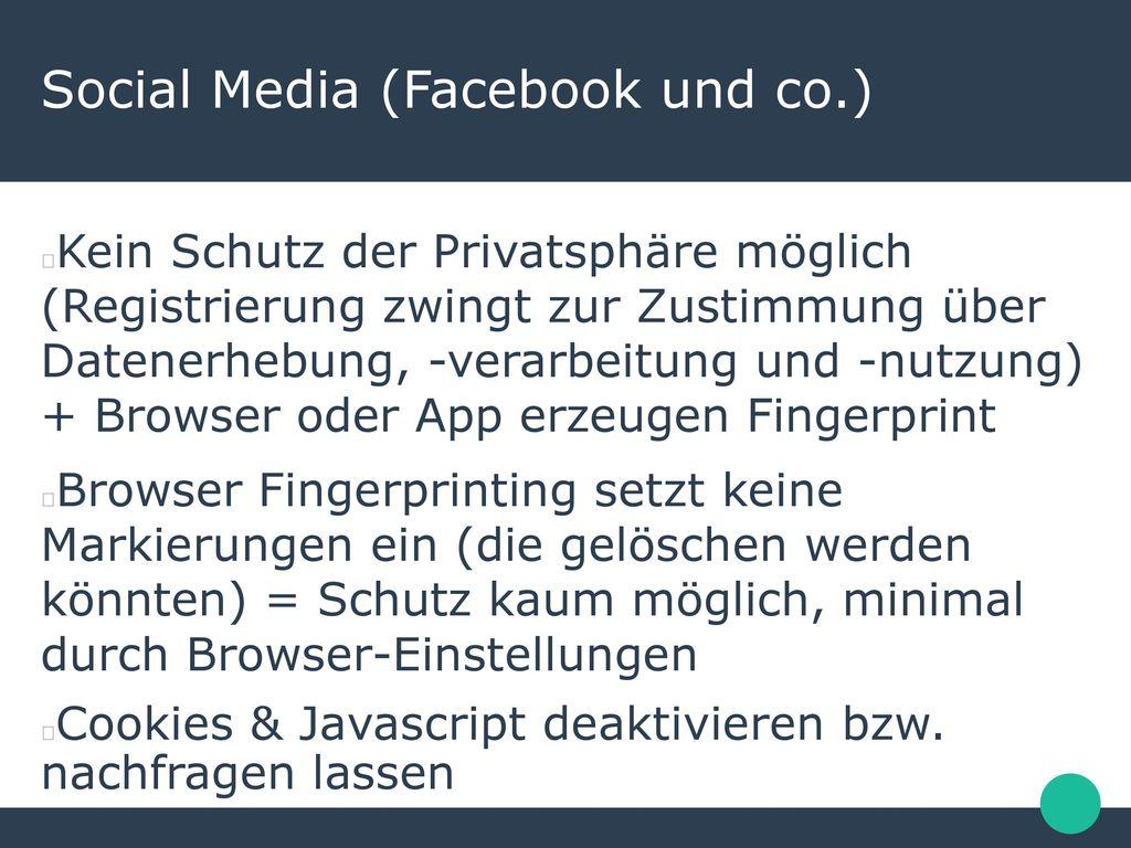 Social Media (Facebook und co.)