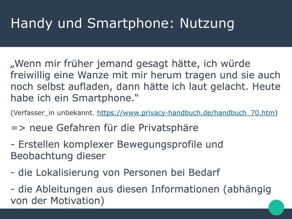 Handy und Smartphone: Nutzung