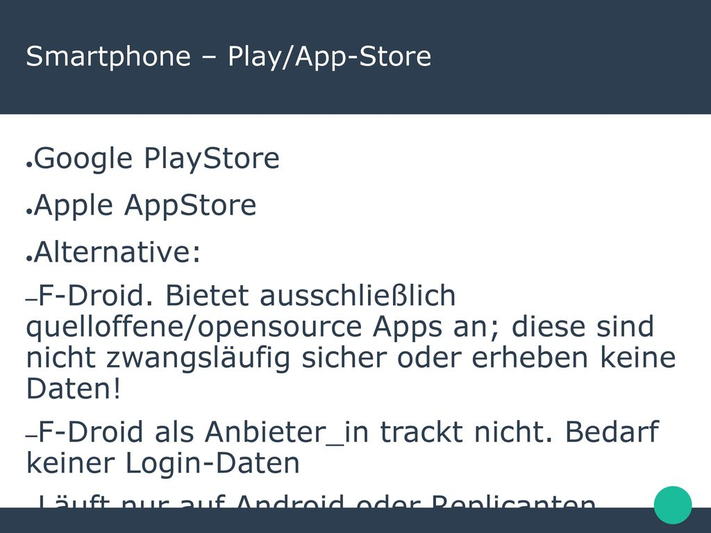 Smartphone – Play/App-Store