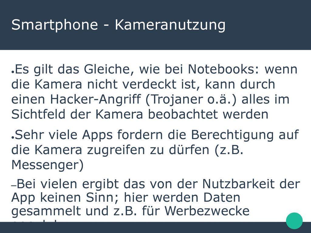 Smartphone - Kameranutzung