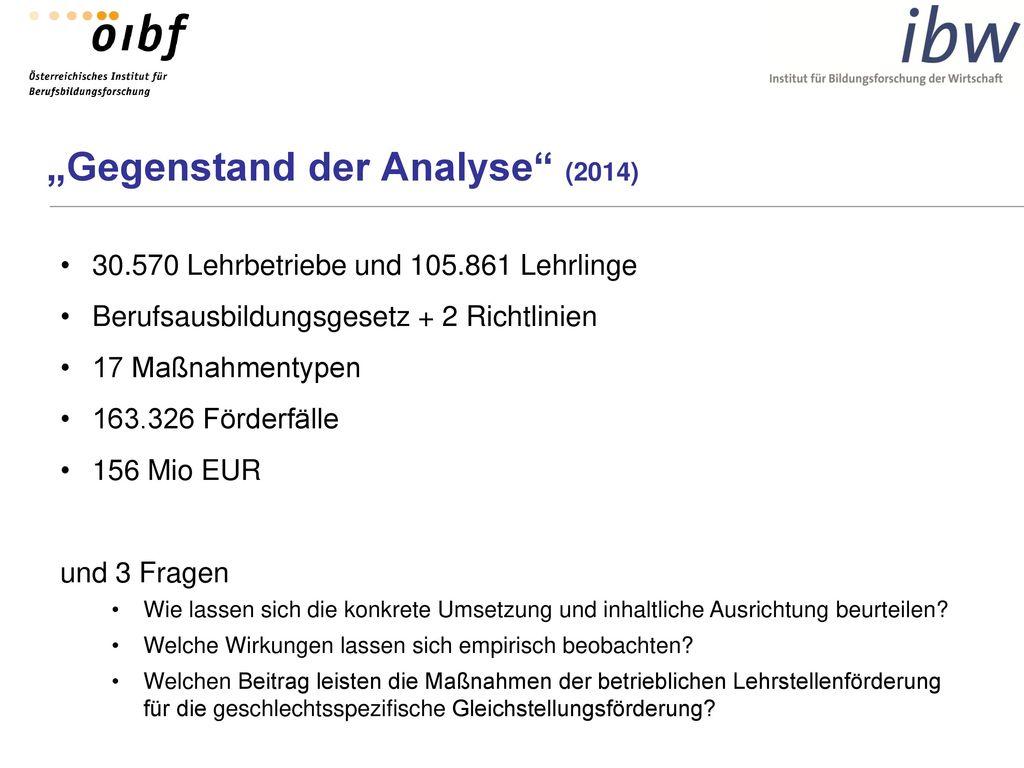"""""""Gegenstand der Analyse (2014)"""
