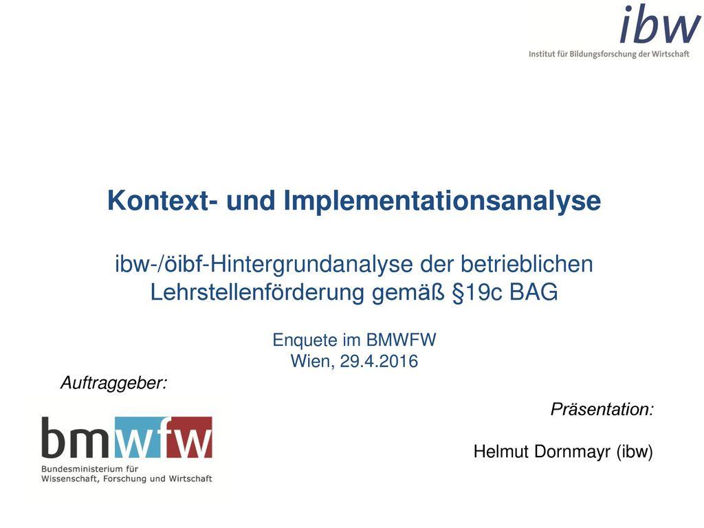 Kontext- und Implementationsanalyse