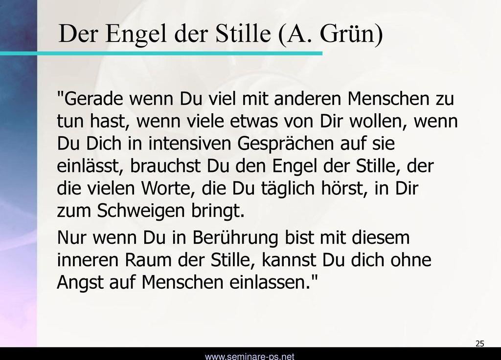 Der Engel der Stille (A. Grün)