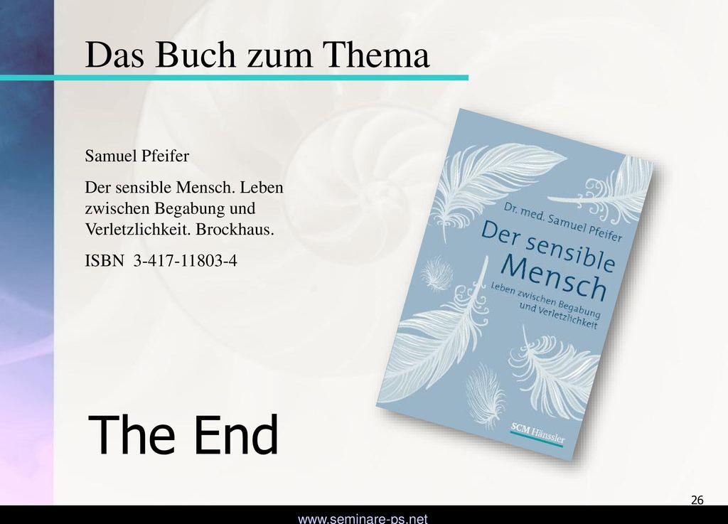 The End Das Buch zum Thema Samuel Pfeifer