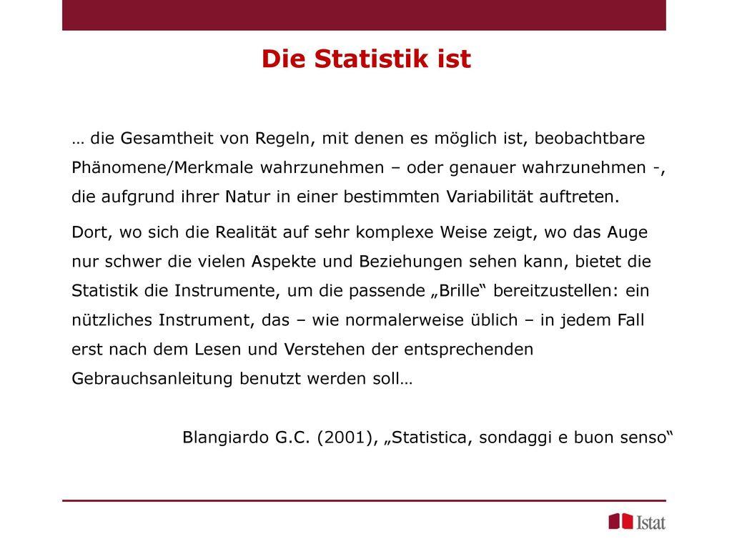 Die Statistik ist