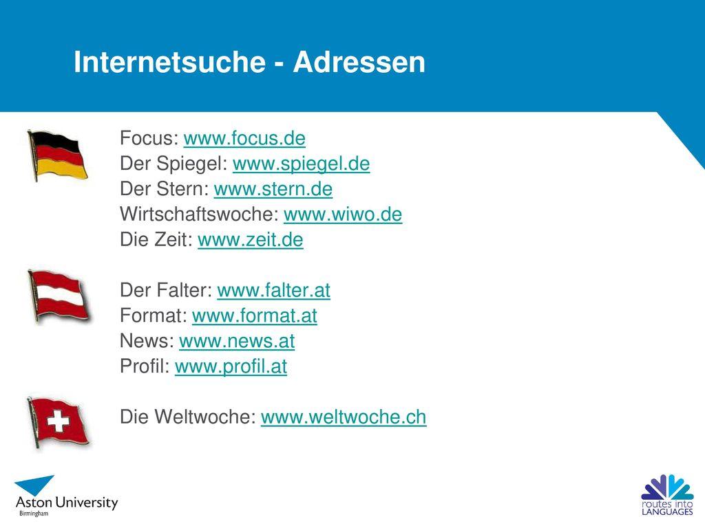 Internetsuche - Adressen