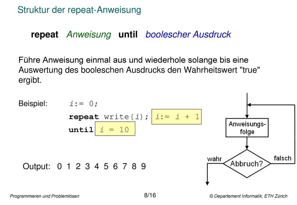 Struktur der repeat-Anweisung
