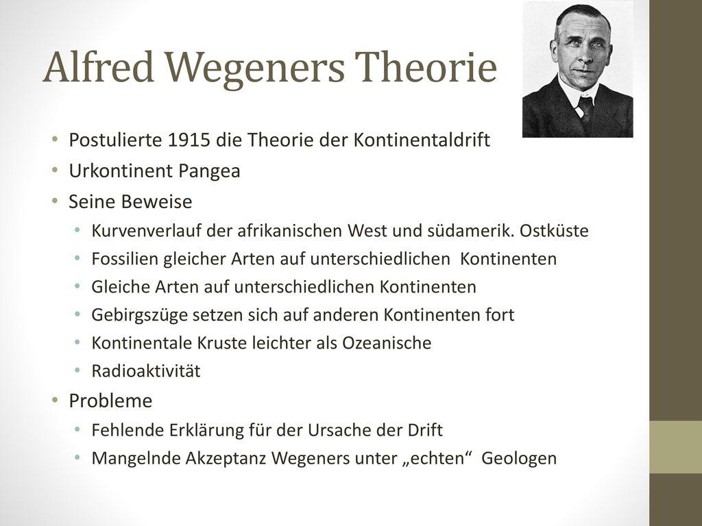 Alfred Wegeners Theorie