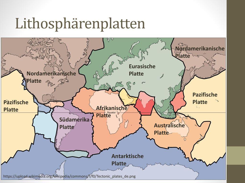 Lithosphärenplatten Nordamerikanische Platte Eurasische Platte