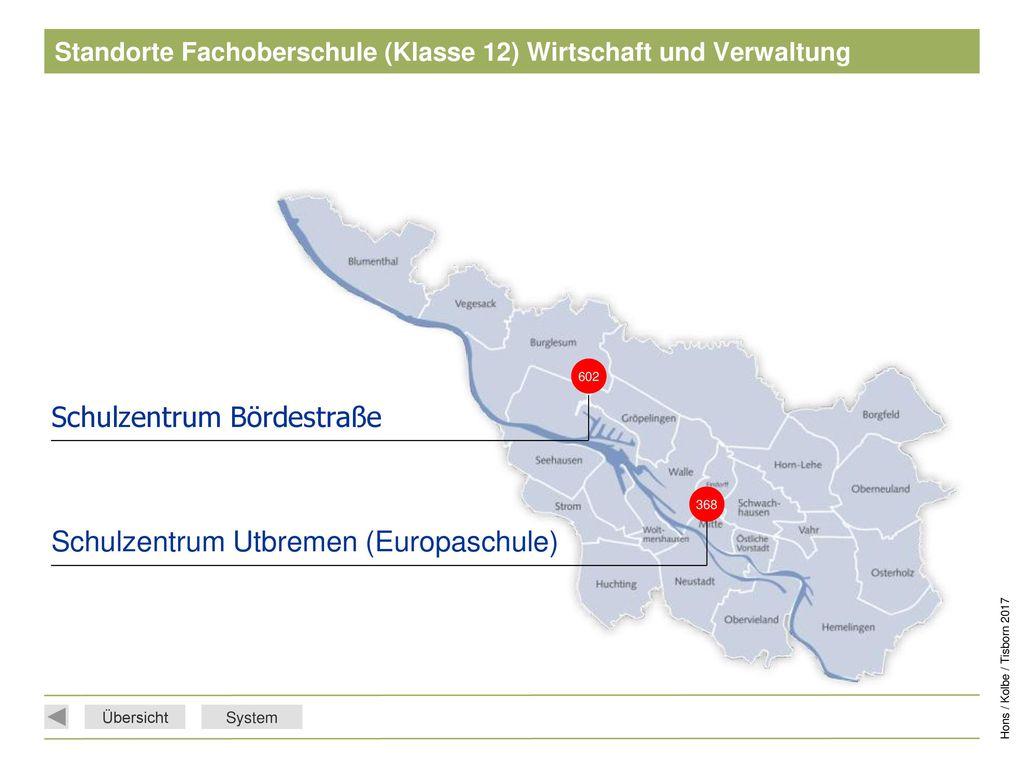 Standorte Fachoberschule (Klasse 12) Wirtschaft und Verwaltung