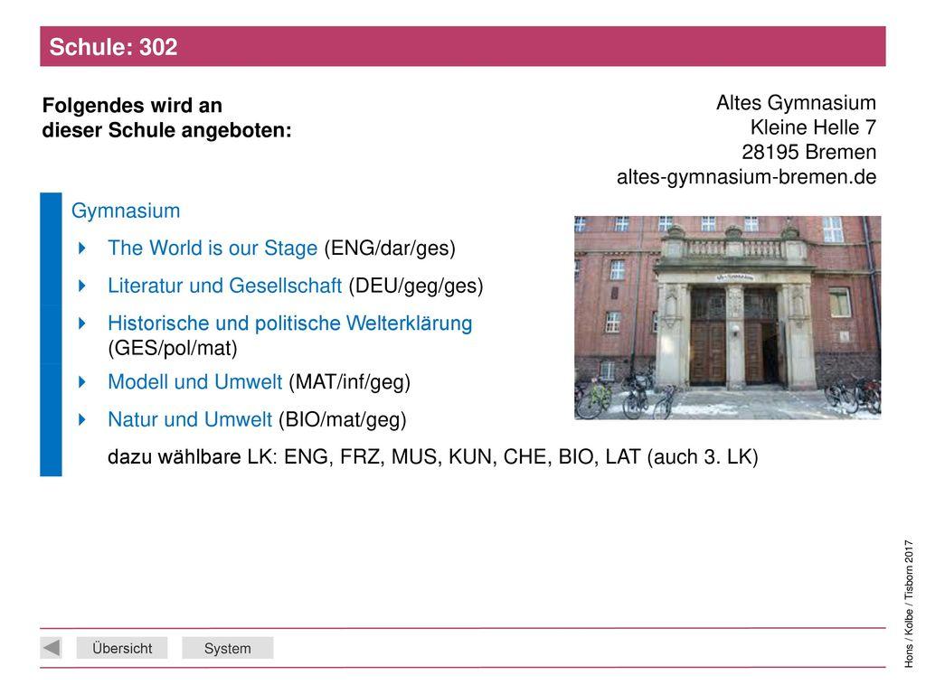 Schule: 302 Altes Gymnasium