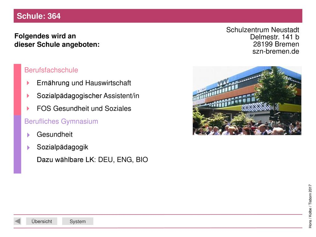 Schule: 364 Schulzentrum Neustadt Delmestr. 141 b 28199 Bremen szn-bremen.de. Berufsfachschule.