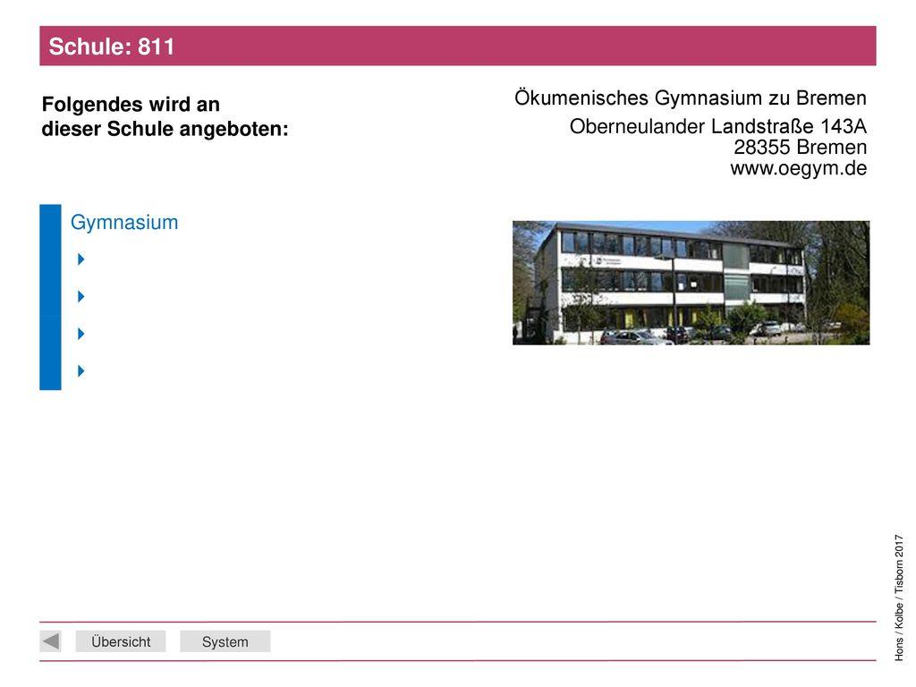 Schule: 811 Ökumenisches Gymnasium zu Bremen