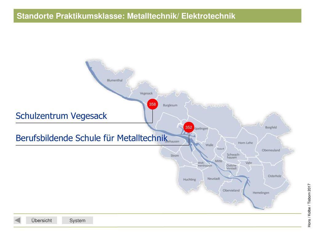 Standorte Praktikumsklasse: Metalltechnik/ Elektrotechnik