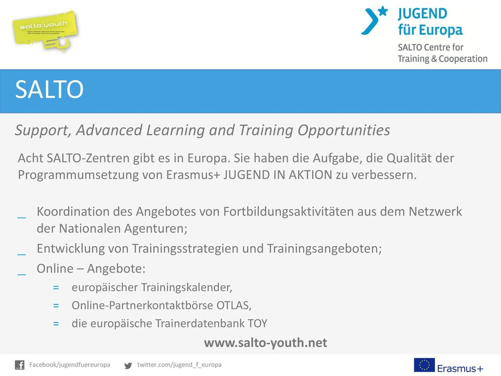 SALTO Support, Advanced Learning and Training Opportunities