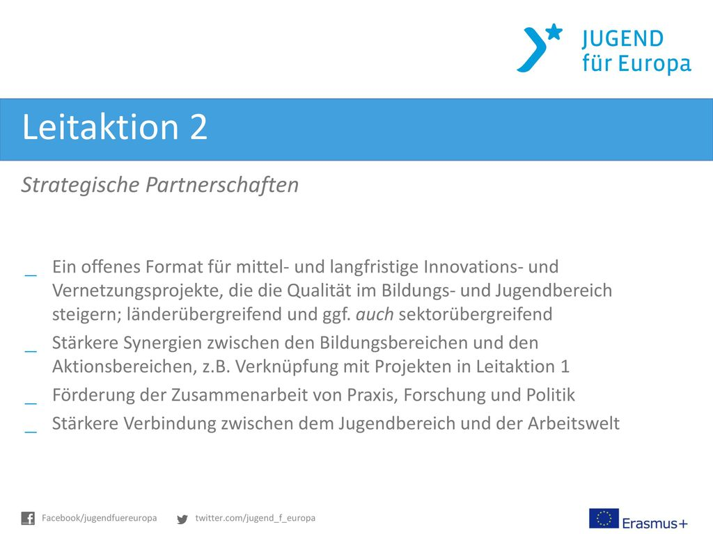 Leitaktion 2 Strategische Partnerschaften