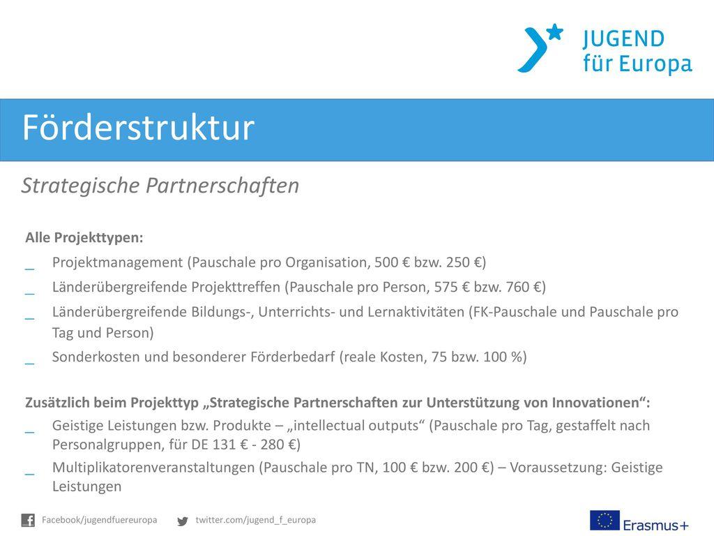 Förderstruktur Strategische Partnerschaften Alle Projekttypen: