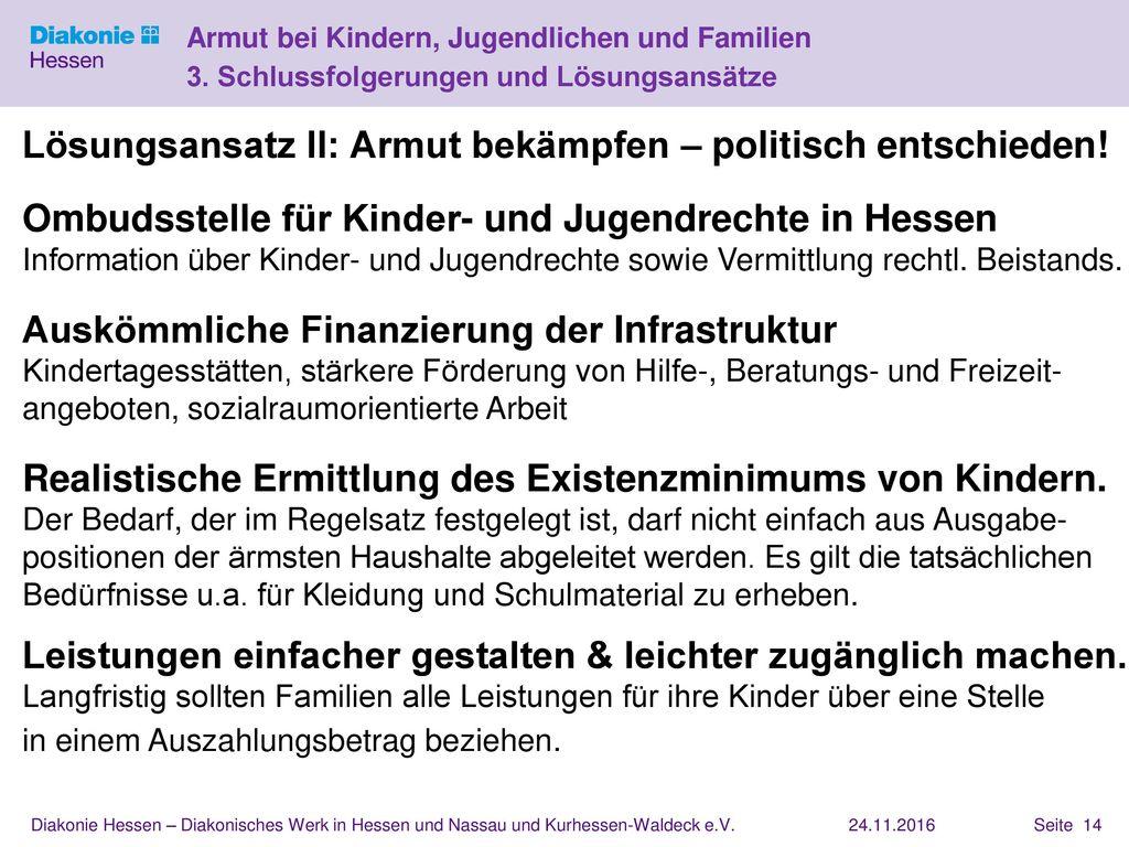 Lösungsansatz II: Armut bekämpfen – politisch entschieden!