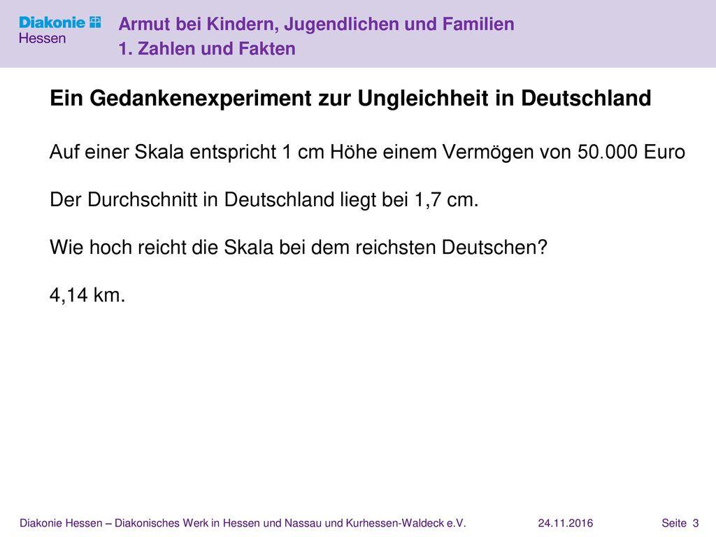 Ein Gedankenexperiment zur Ungleichheit in Deutschland