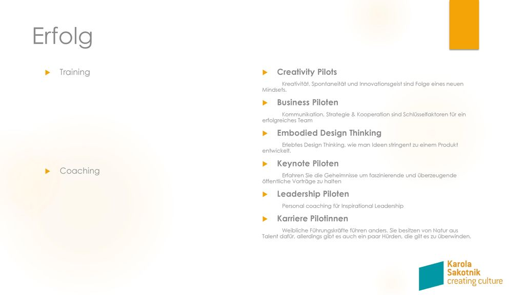 Erfolg Training Creativity Pilots Business Piloten