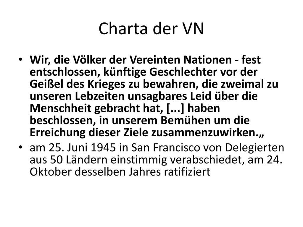 Charta der VN