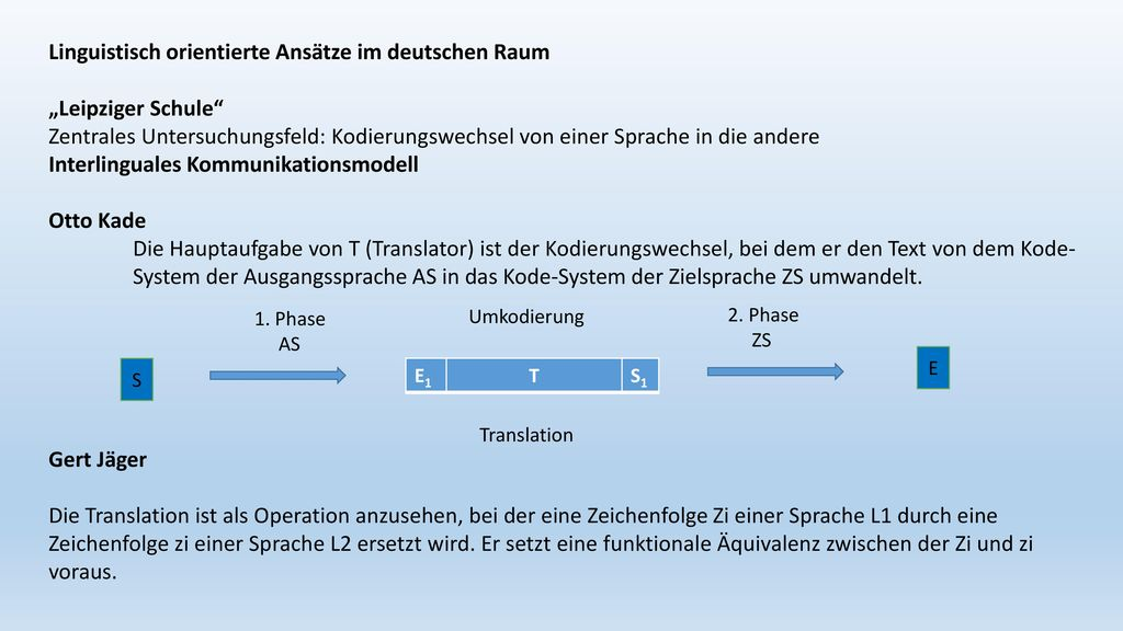"""Linguistisch orientierte Ansätze im deutschen Raum """"Leipziger Schule"""