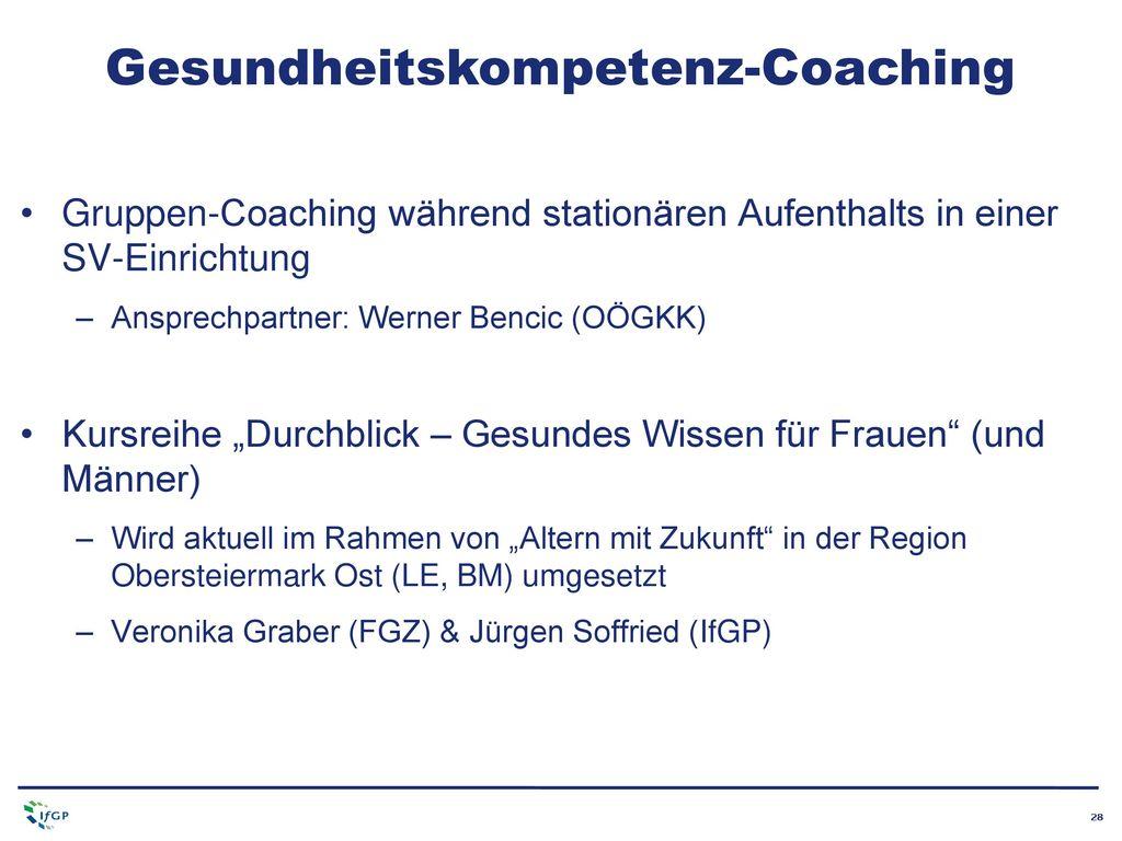 Gesundheitskompetenz-Coaching