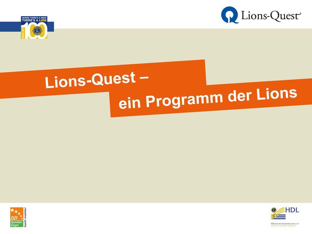 Lions-Quest – ein Programm der Lions
