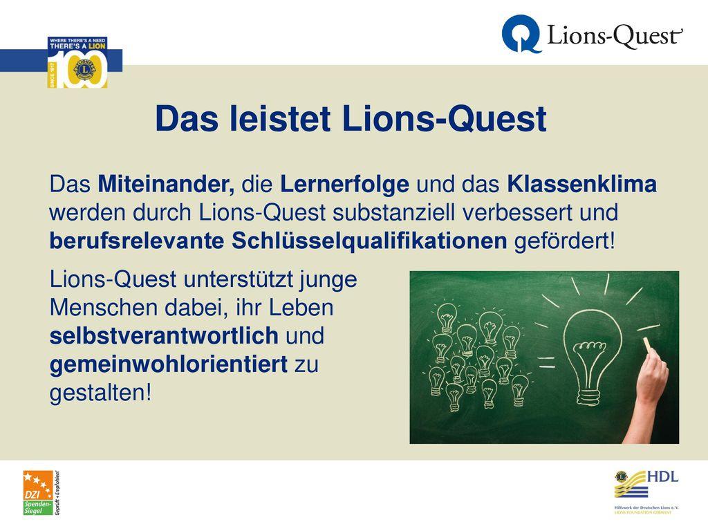 Das leistet Lions-Quest