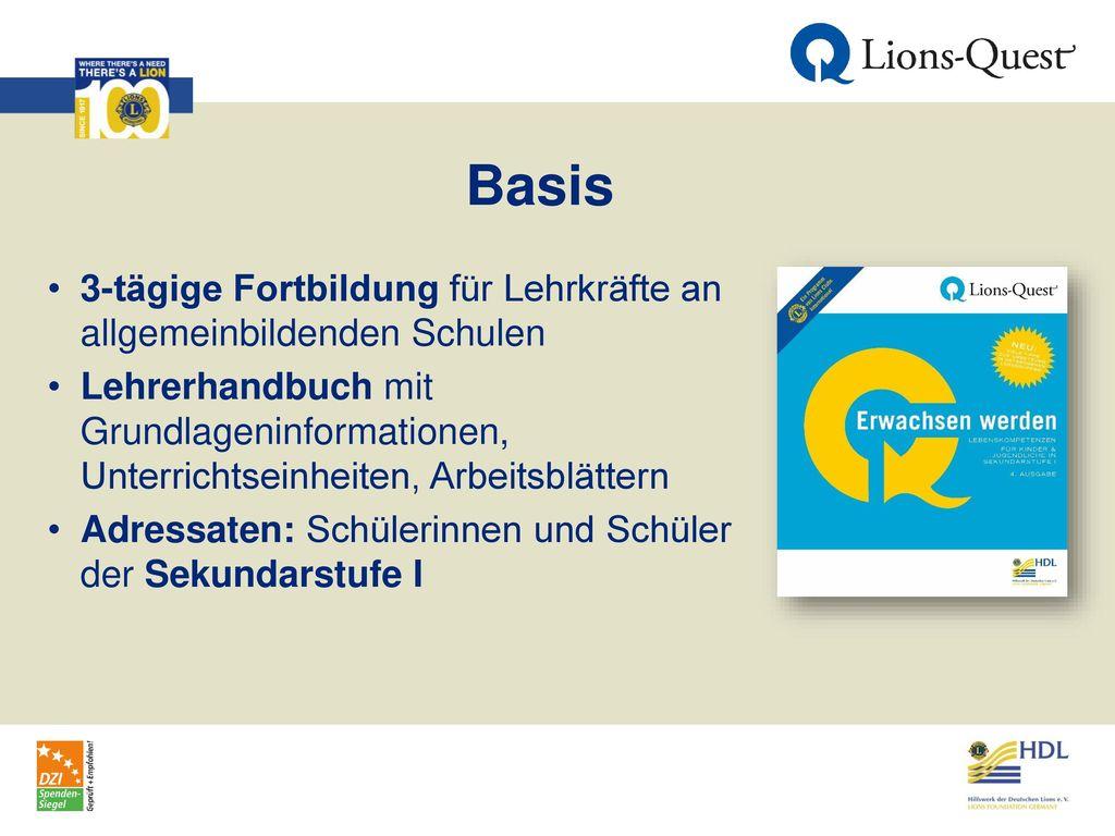 Basis 3-tägige Fortbildung für Lehrkräfte an allgemeinbildenden Schulen.