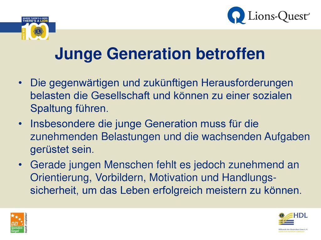 Junge Generation betroffen