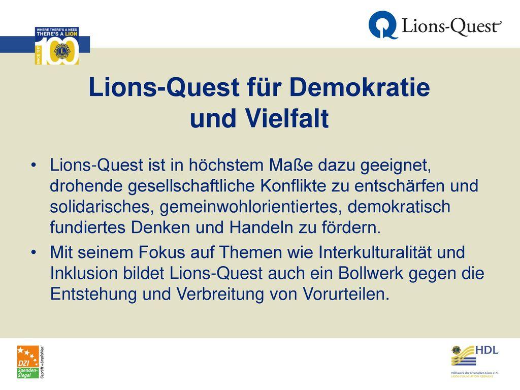 Lions-Quest für Demokratie und Vielfalt