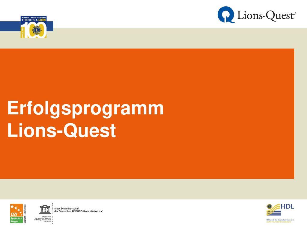 Erfolgsprogramm Lions-Quest