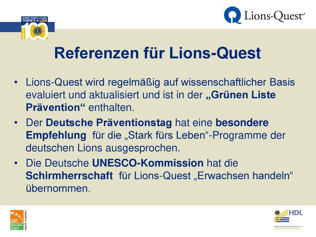Referenzen für Lions-Quest