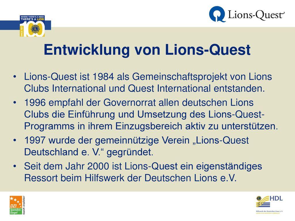Entwicklung von Lions-Quest