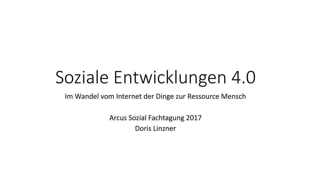 Soziale Entwicklungen 4.0